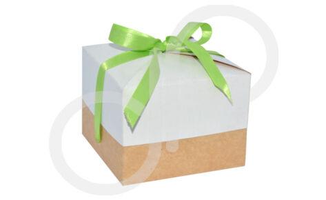 Diseño Caja Ecológica con moño