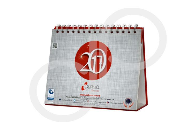 Impresión calendario de mesa Corbanca