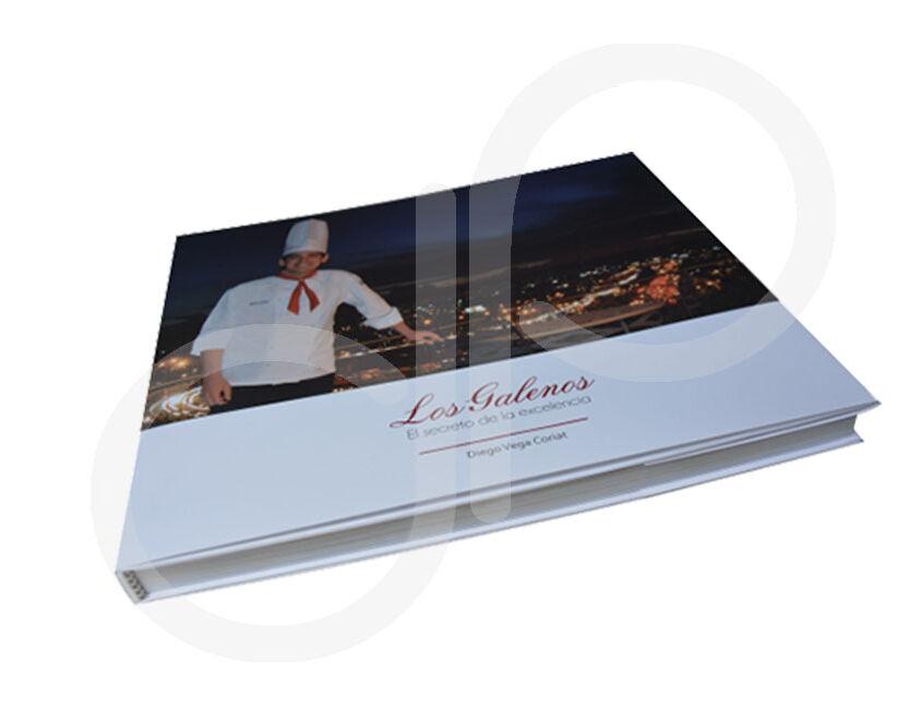 Impresión Libro Restaurante los galenos