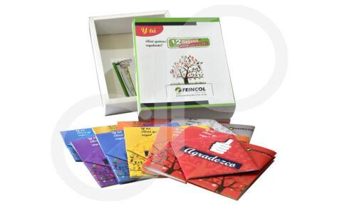 Impresión Caja con folletos Feincol
