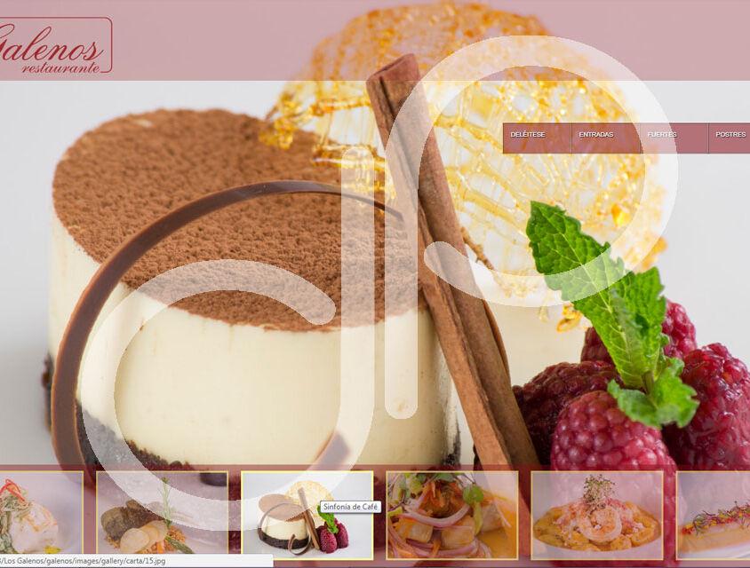 Página WEB Restaurante Los Galenos