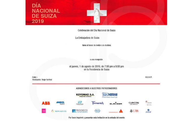 E-mailing Embajada Suiza en Colombia