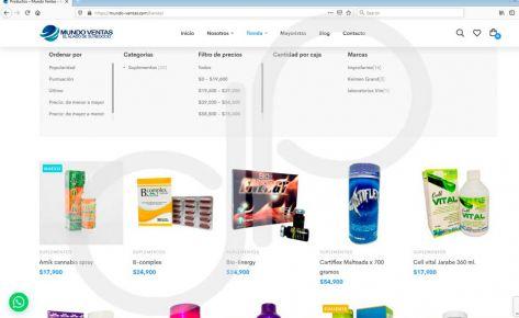 Diseño e instalación de página web mundo ventas
